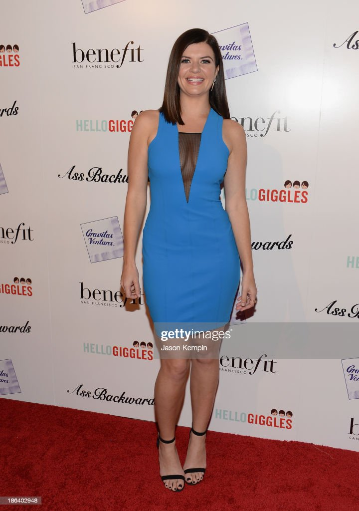 Actress Casey Wilson attends the premiere of Gravitas Ventures' 'Ass Backwards' at the Vista Theatre on October 30, 2013 in Los Angeles, California.
