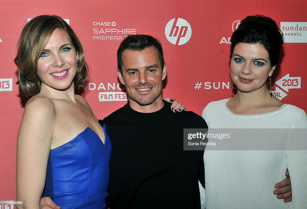 Actress Casey Wilson director Chris Nelson and actress June Diane Raphael attend the 'Ass Backwards' premiere at Egyptian Theatre during the 2013...