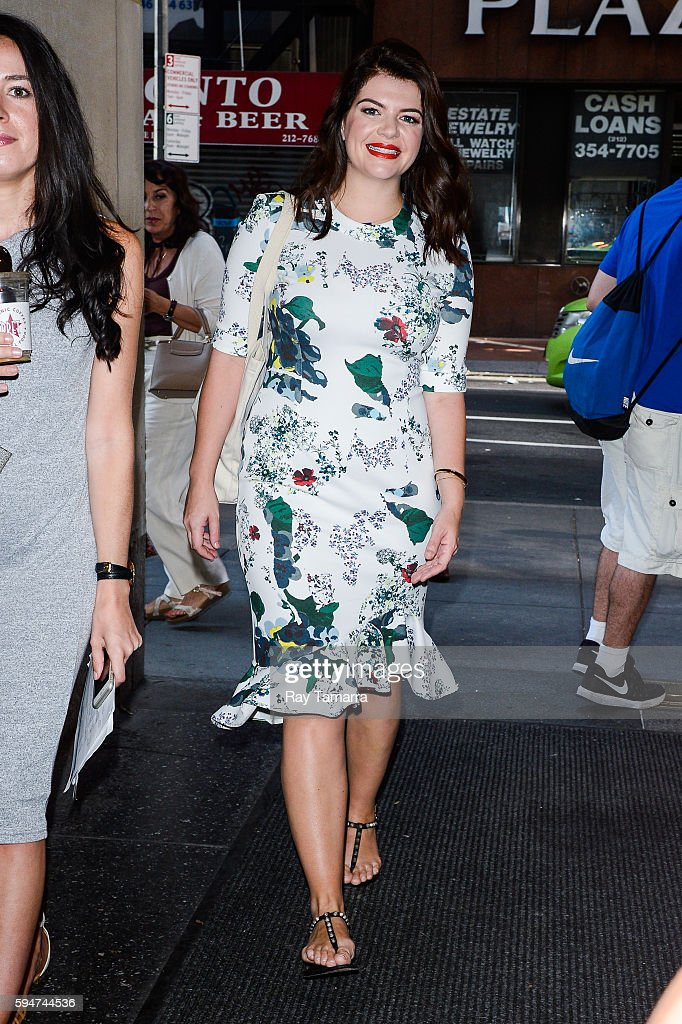 Actress Casey Wilson enters the 'Today Show' taping at the NBC Rockefeller Center Studios on August 24 2016 in New York City