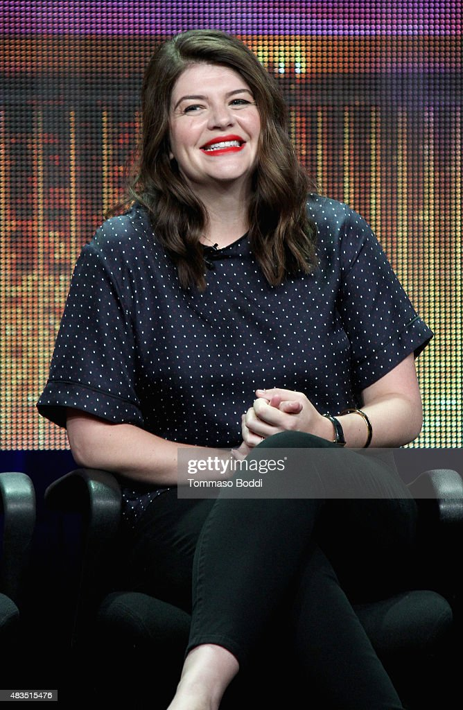 Actress Casey Wilson speaks onstage during 'The Hotwives of Las Vegas' panel at the Hulu 2015 Summer TCA Presentation at The Beverly Hilton Hotel on August 9, 2015 in Beverly Hills, California.