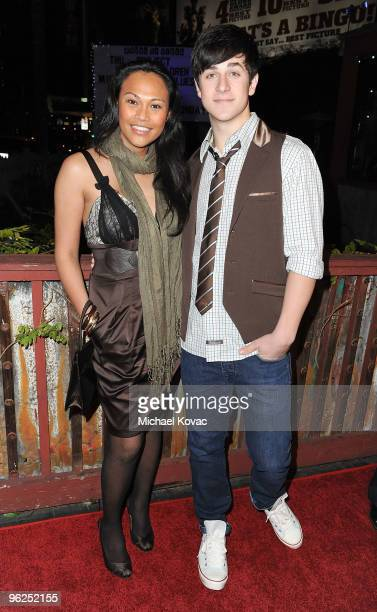 Actress Cassandra Hepburn and actor David Henrie arrive at the Artists For Peace And Justice and WeTheChildren Project Benefit For Haiti at House of...
