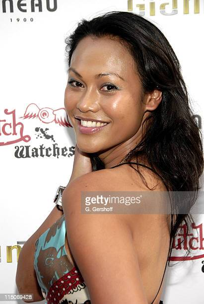Actress Cassandra Hepburn arrives to the Von Dutch Watch Collection Launch Party at the Tourneau TimeMachine Store on August 23 2007 in New York City