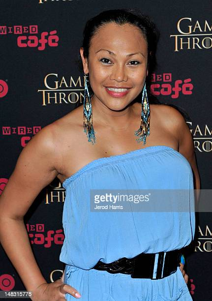 Actress Cassandra Hepburn attends the 'Game Of Thrones' HBO celebration party inside the WIRED Cafe at Palm Terrace At The Omni Hotel during ComicCon...