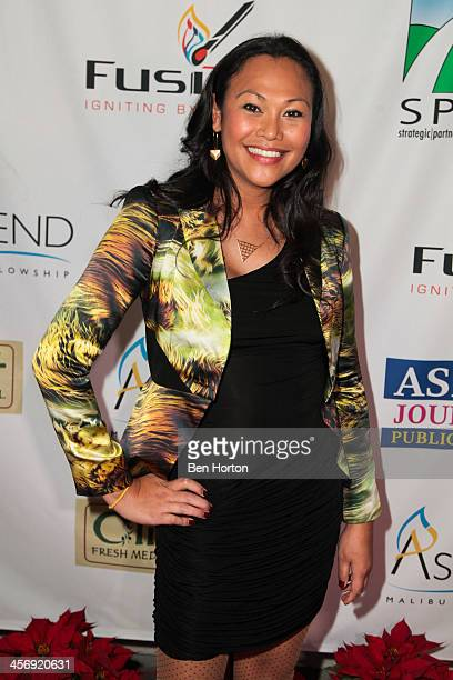 Actress Cassandra Hepburn attends the Span Philippines Relief And Fusion Global Fundraiser at Malibu West Beach Club on December 15 2013 in Malibu...