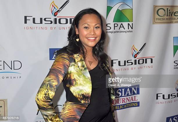 Actress Cassandra Hepburn attends the Span Philippines Relief Fundraiser at Malibu West Beach Club on December 15 2013 in Malibu California