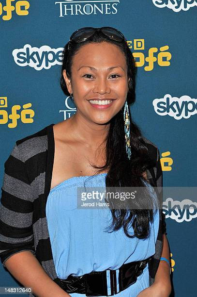 Actress Cassandra Hepburn attends WIRED Cafe At ComicCon held at Palm Terrace at the Omni Hotel on July 13 2012 in San Diego California