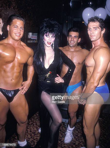 Actress Cassandra Peterson attends the 'Elvira Mistress of the Dark' Premiere Party on September 27 1988 at the Loeb Boathouse Central Park in New...