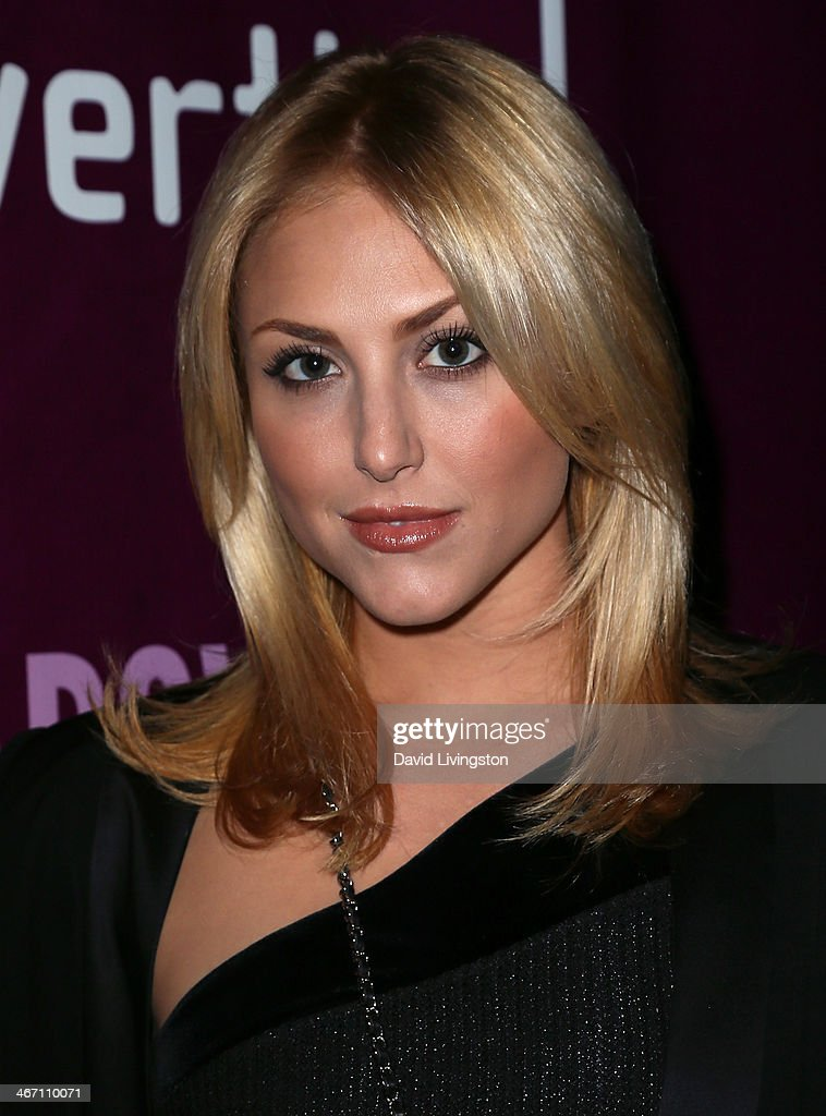 Actress Cassandra Scerbo attends the opening night performance of 'Above the Fold' at the Pasadena Playhouse on February 5, 2014 in Pasadena, California.