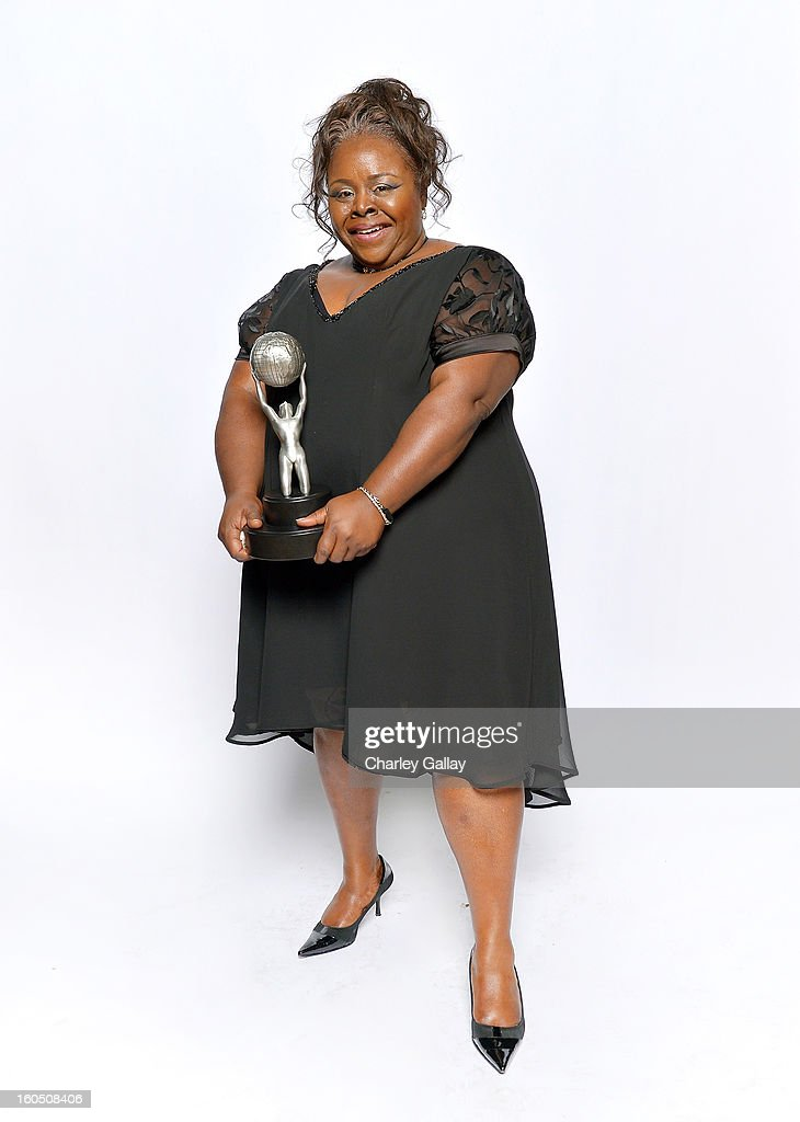 Actress Cassi Davis, winner of Outstanding Actress in a Comedy Series for 'Tyler Perry's House of Payne, poses for a portrait during the 44th NAACP Image Awards at The Shrine Auditorium on February 1, 2013 in Los Angeles, California.