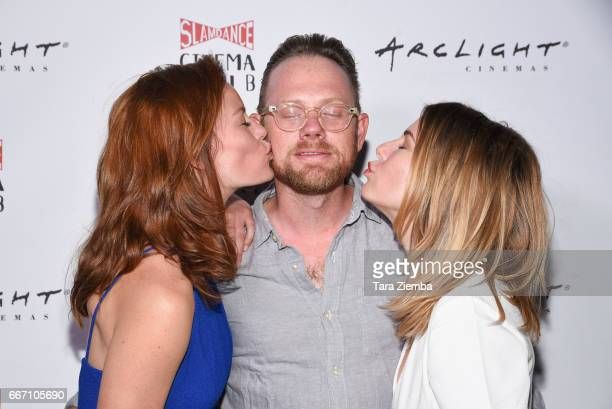 Actress Cassidy Freeman actor Arron Shiver and actress/writer/director Cheryl Nichols attends Arclight Presents Slamdance Cinema Club 'Cortez' at...
