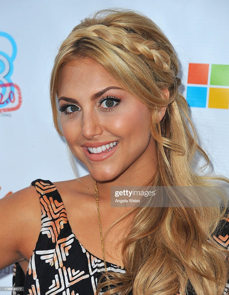 Actress <a gi-track='captionPersonalityLinkClicked' href=/galleries/search?phrase=Cassie+Scerbo&family=editorial&specificpeople=4436795 ng-click='$event.stopPropagation()'>Cassie Scerbo</a> arrives at the 18for18: Summer Soiree Honoring the Somaly Mam Foundation on August 18, 2013 in Venice, California.