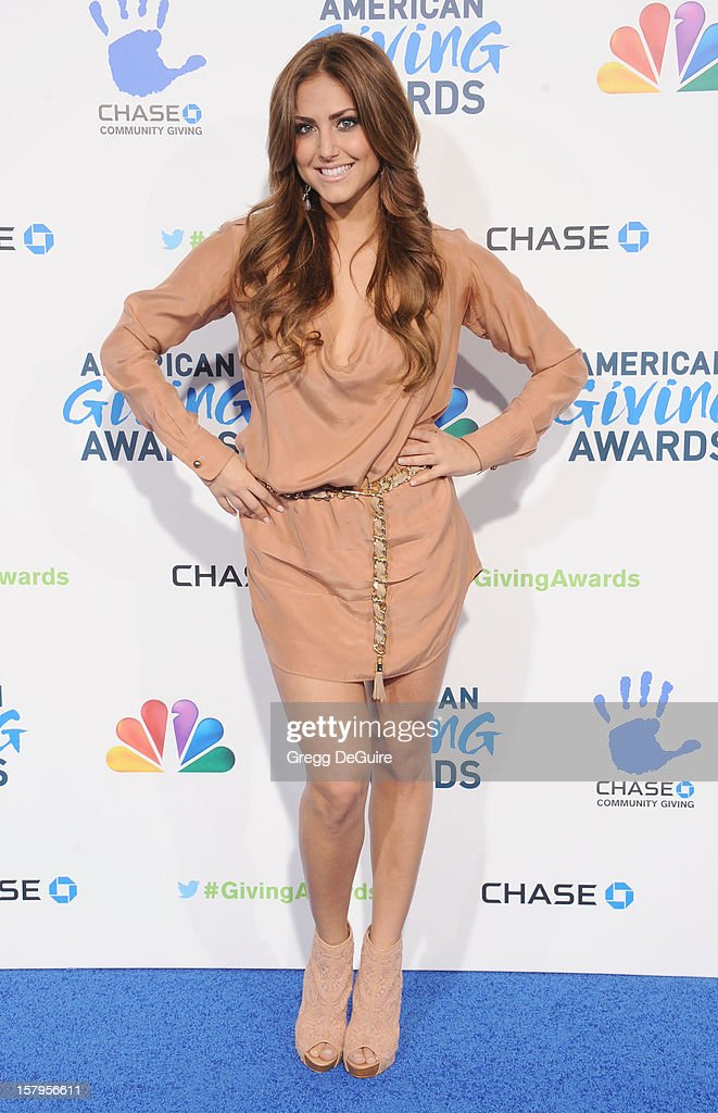 Actress Cassie Scerbo arrives at the 2nd Annual American Giving Awards at the Pasadena Civic Auditorium on December 7, 2012 in Pasadena, California.