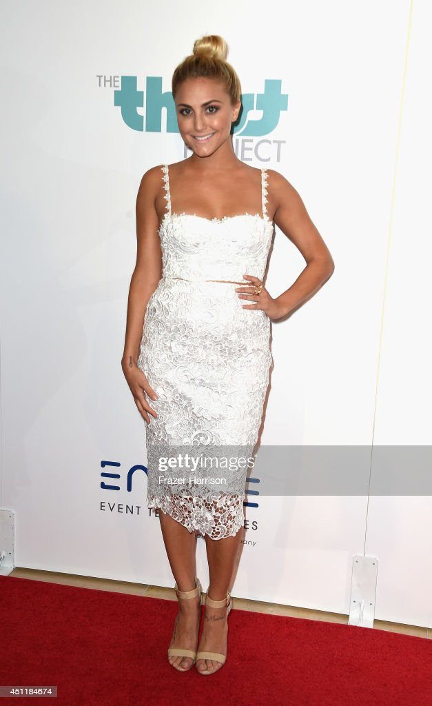 Actress Cassie Scerbo arrives at the 5th Annual Thirst Gala Hosted By Jennifer Garner In Partnership With Skyo And Relativity's 'Earth To Echo' at The Beverly Hilton Hotel on June 24, 2014 in Beverly Hills, California.