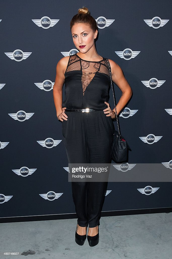 Actress <a gi-track='captionPersonalityLinkClicked' href=/galleries/search?phrase=Cassie+Scerbo&family=editorial&specificpeople=4436795 ng-click='$event.stopPropagation()'>Cassie Scerbo</a> attends as MINI Cooper unveils newest addition to the MINI fleet during Los Angeles Auto Show at Kim Sing Theatre on November 19, 2013 in Los Angeles, California.
