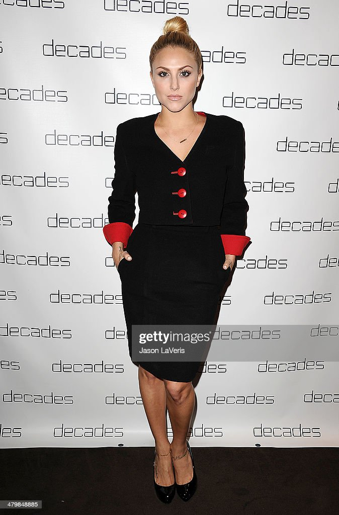 Actress <a gi-track='captionPersonalityLinkClicked' href=/galleries/search?phrase=Cassie+Scerbo&family=editorial&specificpeople=4436795 ng-click='$event.stopPropagation()'>Cassie Scerbo</a> attends the Decades: Les Must De Moschino event at Decades on March 20, 2014 in Los Angeles, California.