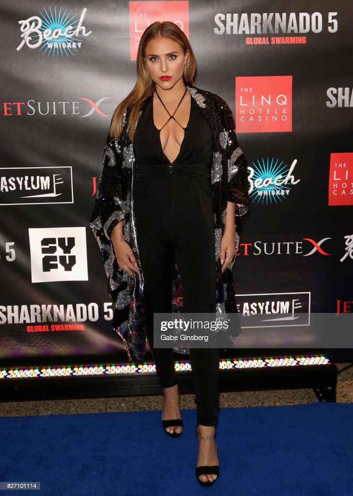 Actress Cassie Scerbo attends the premiere of 'Sharknado 5: Global Swarming' at The Linq Hotel & Casino on August 6, 2017 in Las Vegas, Nevada.