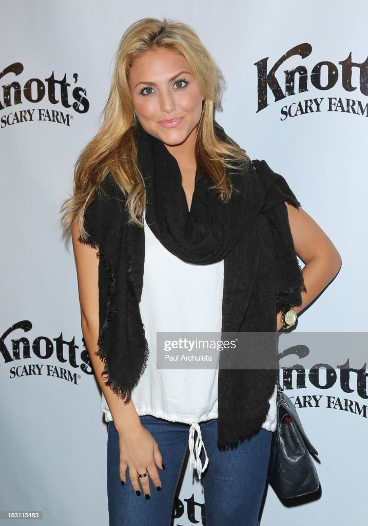 Actress <a gi-track='captionPersonalityLinkClicked' href=/galleries/search?phrase=Cassie+Scerbo&family=editorial&specificpeople=4436795 ng-click='$event.stopPropagation()'>Cassie Scerbo</a> attends the VIP opening of Knott's Scary Farm HAUNT at Knott's Berry Farm on October 3, 2013 in Buena Park, California.