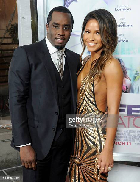 Actress Cassie Ventura and Sean Combs arrive at the premiere of Lionsgate's 'The Perfect Match' at ArcLight Hollywood on March 7 2016 in Hollywood...