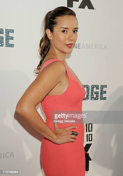 Actress Catalina Sandino Moreno arrives at the series premiere of FX's 'The Bridge' at DGA Theater on July 8 2013 in Los Angeles California