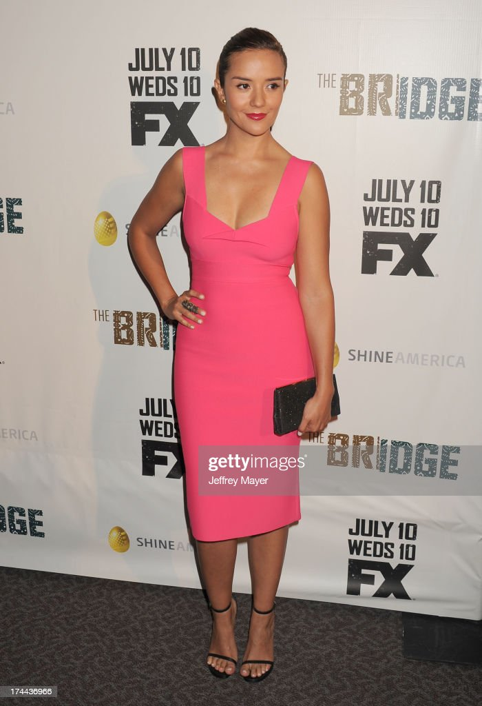 Actress Catalina Sandino Moreno arrives at the Series Premiere Of FX's 'The Bridge' at DGA Theater on July 8, 2013 in Los Angeles, California.