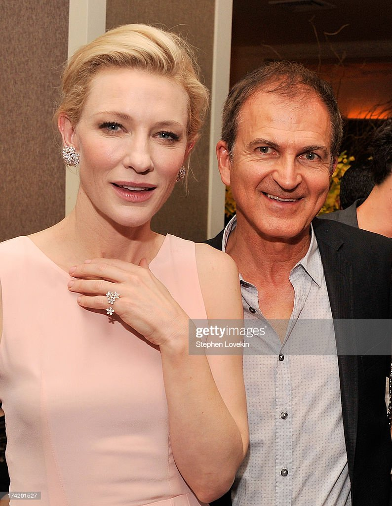 Actress Cate Blanchett and producer Edward Walson attend the after party for the New York Premiere of 'Blue Jasmine' at Harlow on July 22, 2013 in New York City.