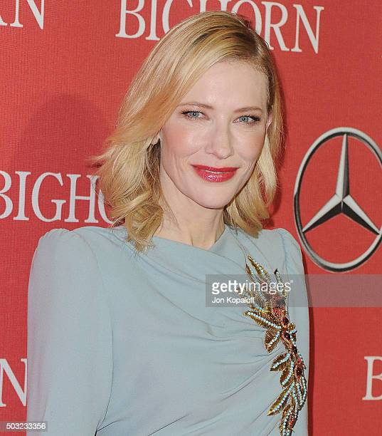 Actress Cate Blanchett arrives at the 27th Annual Palm Springs International Film Festival Awards Gala at Palm Springs Convention Center on January 2...
