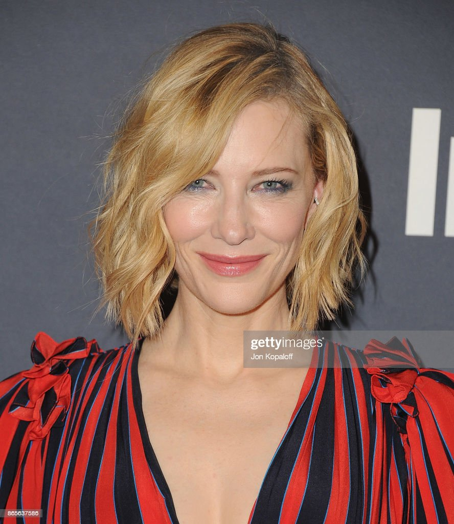 Actress Cate Blanchett arrives at the 3rd Annual InStyle Awards at The Getty Center on October 23, 2017 in Los Angeles, California.