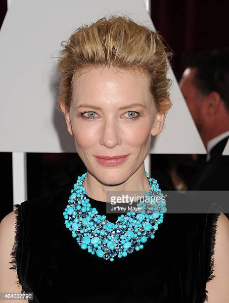 Actress Cate Blanchett arrives at the 87th Annual Academy Awards at Hollywood Highland Center on February 22 2015 in Hollywood California