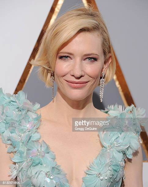 Actress Cate Blanchett arrives at the 88th Annual Academy Awards at Hollywood Highland Center on February 28 2016 in Hollywood California