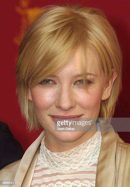 Actress Cate Blanchett arrives at the Berlinale Film Festival February 6 2002 in Berlin Germany on the festivals opening day