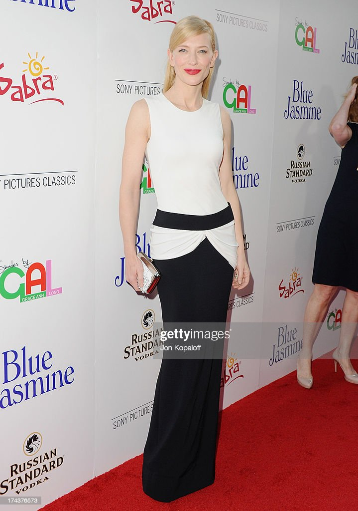 Actress Cate Blanchett arrives at the Los Angeles Premiere 'Blue Jasmine' at the Academy of Motion Picture Arts and Sciences on July 24, 2013 in Beverly Hills, California.