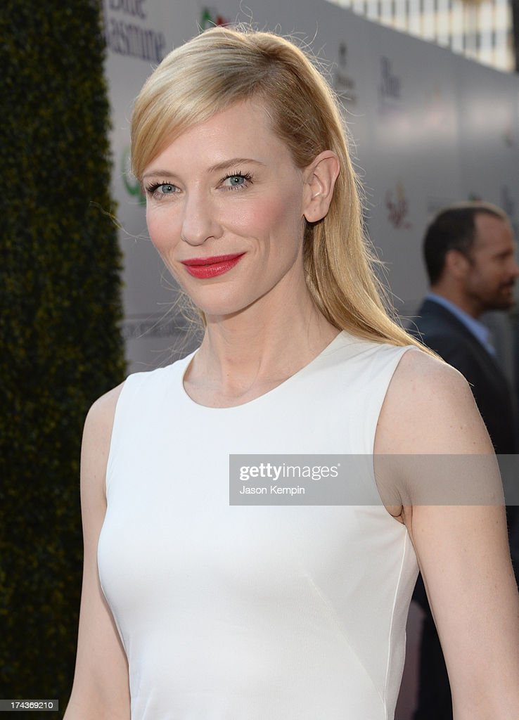 Actress <a gi-track='captionPersonalityLinkClicked' href=/galleries/search?phrase=Cate+Blanchett&family=editorial&specificpeople=201621 ng-click='$event.stopPropagation()'>Cate Blanchett</a> arrives at the premiere of 'Blue Jasmine' hosted by AFI & Sony Picture Classics at AMPAS Samuel Goldwyn Theater on July 24, 2013 in Beverly Hills, California.