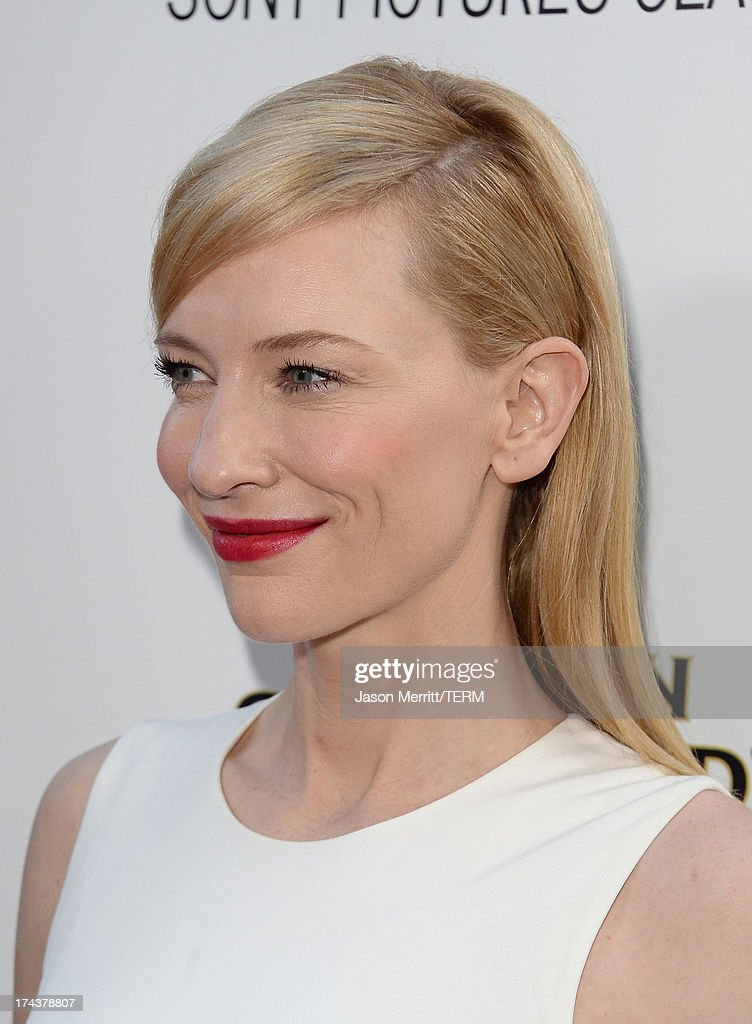 Actress Cate Blanchett arrives at the premiere of 'Blue Jasmine' hosted by AFI & Sony Picture Classics at AMPAS Samuel Goldwyn Theater on July 24, 2013 in Beverly Hills, California.