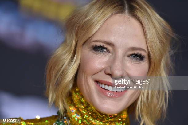 Actress Cate Blanchett arrives at the premiere of Disney and Marvel's 'Thor Ragnarok' at the El Capitan Theatre on October 10 2017 in Los Angeles...