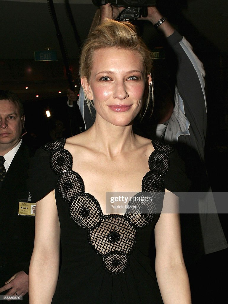 Actress Cate Blanchett arrives for the Helpmann Awards at the Lyric Theatre, Star City on August 8, 2005 in Sydney, Australia. The Helpmann Awards were established to celebrate and promote the entertainment industry in the style of Broadway?s Tony Awards, London?s Olivier Awards and the ARIA, AFI and Logie Awards for the music, film and television industries in Australia.