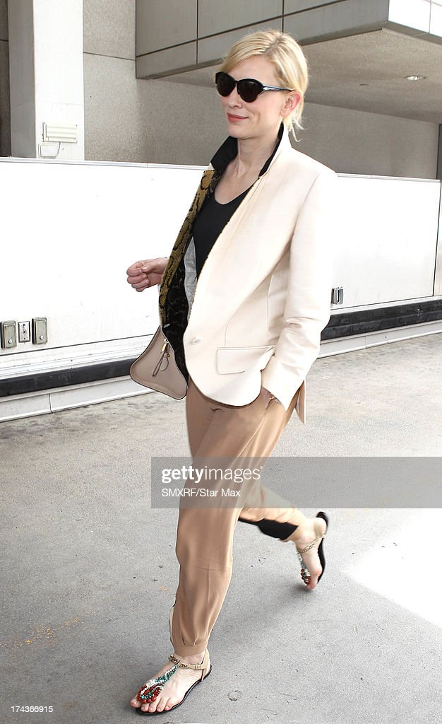 Actress Cate Blanchett as seen on July 24 2013 in Los Angeles California