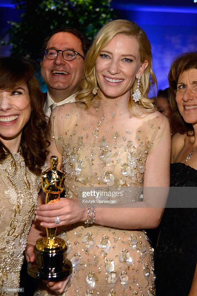 Actress <a gi-track='captionPersonalityLinkClicked' href=/galleries/search?phrase=Cate+Blanchett&family=editorial&specificpeople=201621 ng-click='$event.stopPropagation()'>Cate Blanchett</a> attend the Oscars Governors Ball at Hollywood & Highland Center on March 2, 2014 in Hollywood, California.