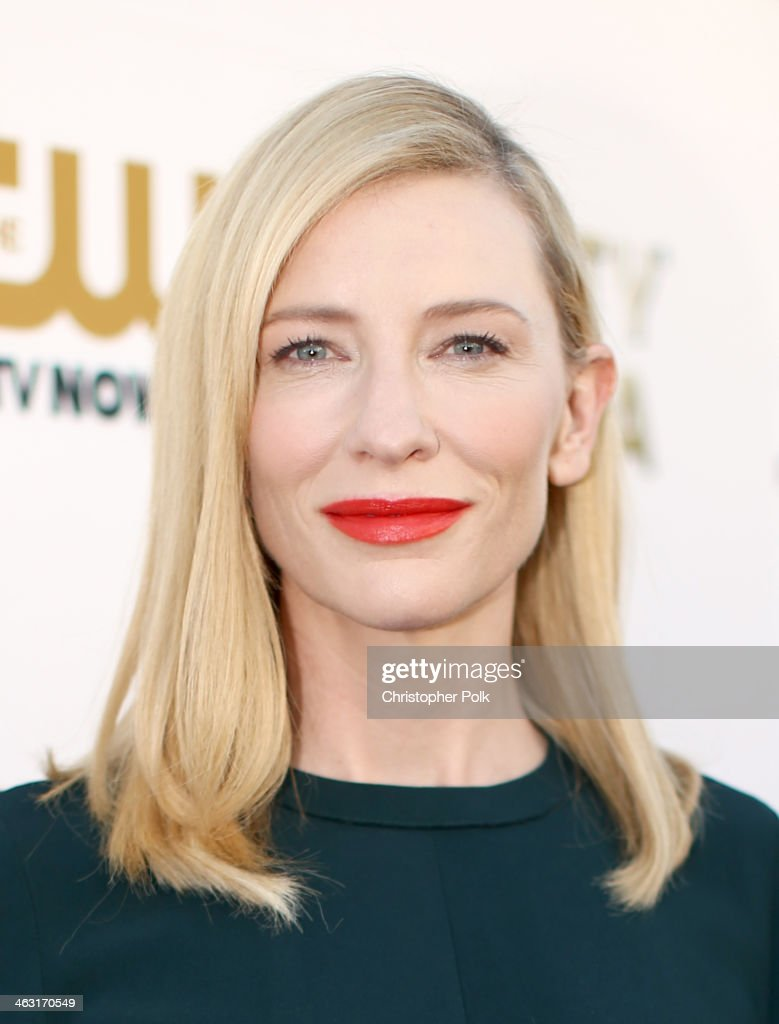 Actress <a gi-track='captionPersonalityLinkClicked' href=/galleries/search?phrase=Cate+Blanchett&family=editorial&specificpeople=201621 ng-click='$event.stopPropagation()'>Cate Blanchett</a> attends the 19th Annual Critics' Choice Movie Awards at Barker Hangar on January 16, 2014 in Santa Monica, California.