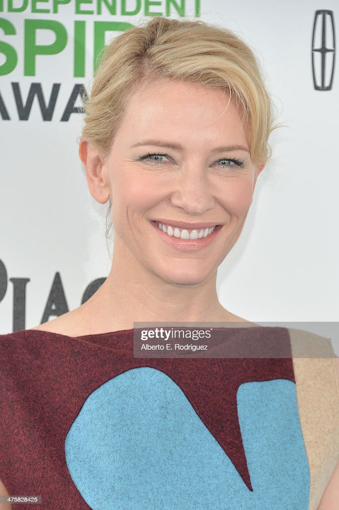 Actress Cate Blanchett attends the 2014 Film Independent Spirit Awards at Santa Monica Beach on March 1, 2014 in Santa Monica, California.