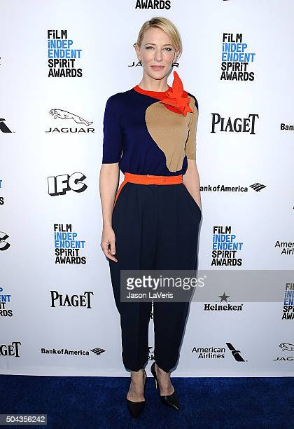 Actress Cate Blanchett attends the 2016 Film Independent filmmaker grant and Spirit Award nominees brunch at BOA Steakhouse on January 9 2016 in West...