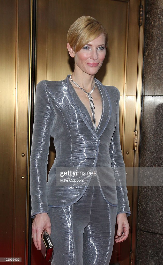 Actress Cate Blanchett attends the 64th Annual Tony Awards at Radio City Music Hall on June 13, 2010 in New York City.