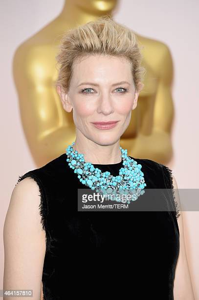 Actress Cate Blanchett attends the 87th Annual Academy Awards at Hollywood Highland Center on February 22 2015 in Hollywood California