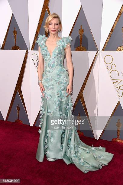 Actress Cate Blanchett attends the 88th Annual Academy Awards at Hollywood Highland Center on February 28 2016 in Hollywood California