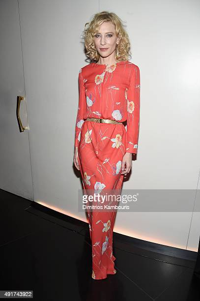 Actress Cate Blanchett attends the Armani and Cinema Society Screening of Sony Pictures Classics' 'Truth' after party at Armani Ristorante on October...