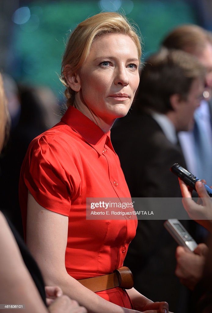 Actress <a gi-track='captionPersonalityLinkClicked' href=/galleries/search?phrase=Cate+Blanchett&family=editorial&specificpeople=201621 ng-click='$event.stopPropagation()'>Cate Blanchett</a> attends the BAFTA LA 2014 Awards Season Tea Party at the Four Seasons Hotel Los Angeles at Beverly Hills on January 11, 2014 in Beverly Hills, California.