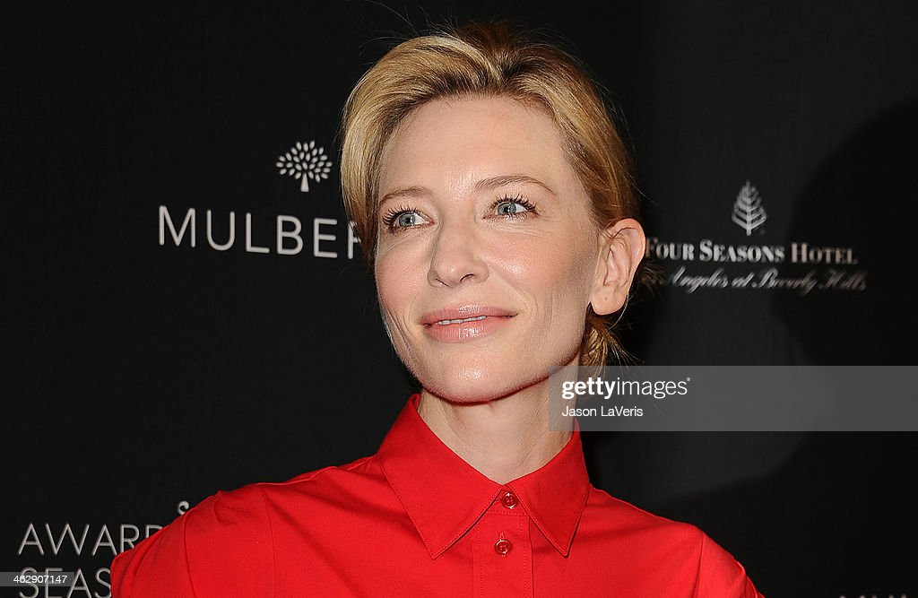 Actress <a gi-track='captionPersonalityLinkClicked' href=/galleries/search?phrase=Cate+Blanchett&family=editorial&specificpeople=201621 ng-click='$event.stopPropagation()'>Cate Blanchett</a> attends the BAFTA LA 2014 awards season tea party at Four Seasons Hotel Los Angeles at Beverly Hills on January 11, 2014 in Beverly Hills, California.