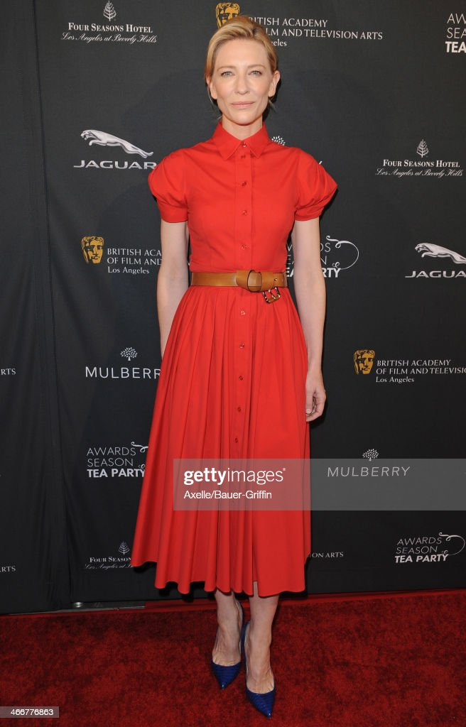 Actress <a gi-track='captionPersonalityLinkClicked' href=/galleries/search?phrase=Cate+Blanchett&family=editorial&specificpeople=201621 ng-click='$event.stopPropagation()'>Cate Blanchett</a> attends the BAFTA LA 2014 Awards Season Tea Party at Four Seasons Hotel Los Angeles in Beverly Hills on January 11, 2014 in Beverly Hills, California.