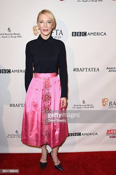 Actress Cate Blanchett attends the BAFTA Los Angeles Awards Season Tea at Four Seasons Hotel Los Angeles at Beverly Hills on January 9 2016 in Los...