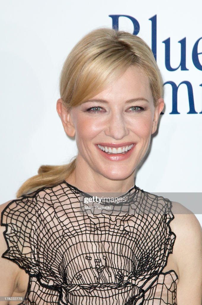 Actress Cate Blanchett attends the 'Blue Jasmine' Paris Premiere at UGC Cine Cite Bercy on August 27, 2013 in Paris, France.