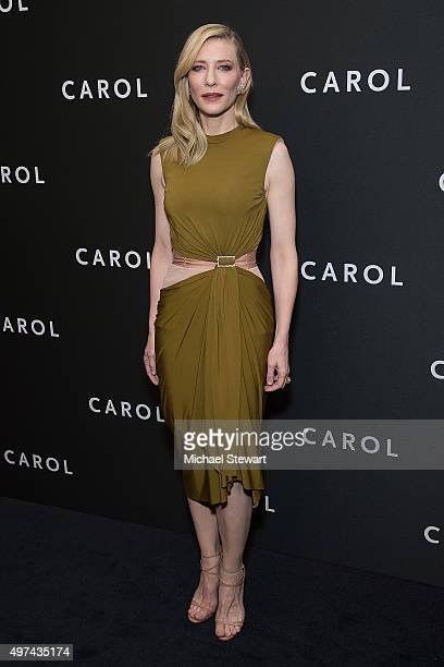 Actress Cate Blanchett attends the 'Carol' New York premiere at Museum of Modern Art on November 16 2015 in New York City